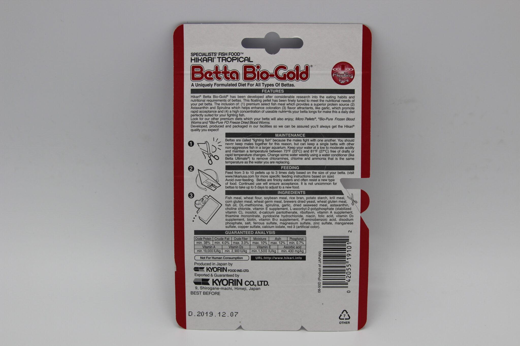 Hikari Betta Bio Gold 20g New Best Buy Indonesia